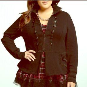 Torrid 2 Women's Size 2X Zip Front Military Jacket
